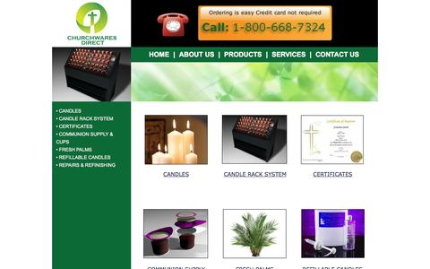Screenshot of Products Page churchwaresdirect.com - PRODUCTS - captured Sept. 29, 2014