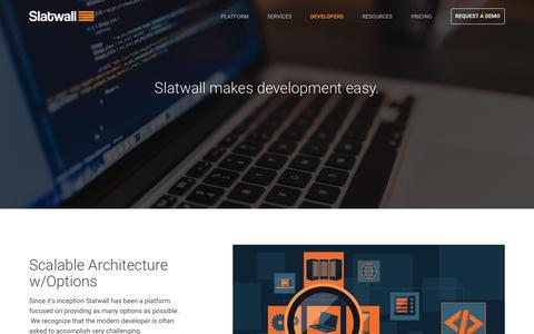 Screenshot of Developers Page slatwallcommerce.com - eCommerce Developers | Slatwall Commerce - captured Nov. 2, 2017