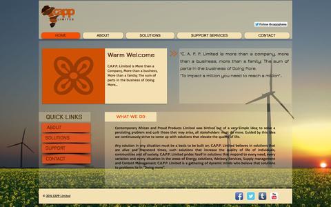 Screenshot of Home Page cappghana.com - CAPP LIMITED - captured Oct. 1, 2014