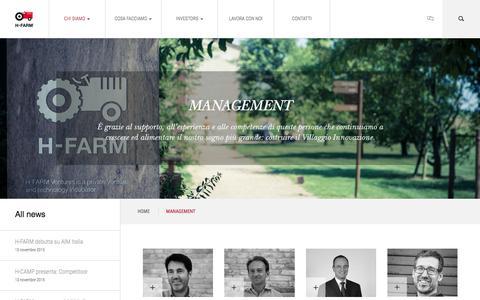 Screenshot of Team Page h-farmventures.com - MANAGEMENT - H-Farm - captured Nov. 17, 2015