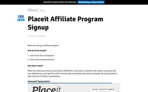 Screenshot of placeit.net - Placeit Affiliate Program Signup - Placeit Blog - captured Aug. 29, 2017