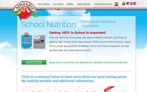 Apple & Eve - School Nutrition - Products & Information