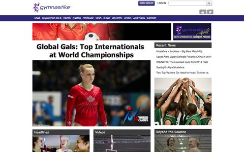 Screenshot of Home Page gymnastike.org - Watch Gymnastics videos, events, workouts, techniques and routines - Gymnastike - captured Sept. 24, 2014