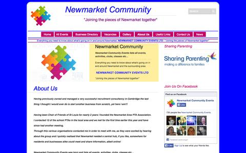 Screenshot of About Page newmarketcommunity.co.uk - About Us   Newmarket Community Events Ltd - captured Oct. 7, 2014