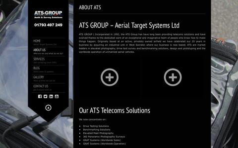 Screenshot of About Page ats-group.co.uk - ATS | Providing telecoms solutions since 1992 - ATS GROUP LTD - captured Feb. 5, 2016