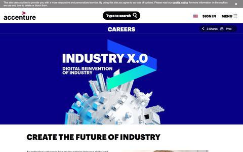 Screenshot of Jobs Page accenture.com - Accenture Industry X.0 Careers - captured Nov. 16, 2017