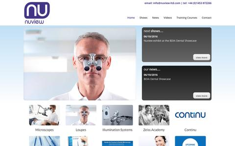 Screenshot of Home Page voroscopes.co.uk - Nuview Home - dental loupes, dental microscopes and Continu - captured Dec. 1, 2016