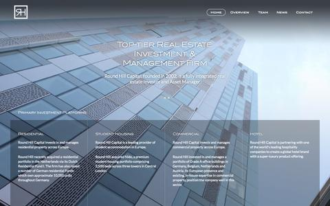 Screenshot of Home Page roundhillcapital.com - Round Hill Capital | Top-tier Real Estate Investment & Management Firm - captured Sept. 30, 2014
