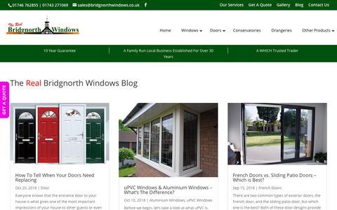 Screenshot of Blog bridgnorthwindows.co.uk - The Real Bidgnorth Windows Blog - Latest News, Articles & Guides - captured Nov. 13, 2018