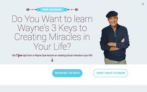 Screenshot of Home Page drwaynedyer.com - Wayne Dyer - The Official Website of Dr. Wayne W. Dyer - captured Oct. 4, 2016