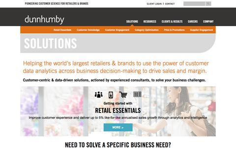 dunnhumby - Exploit the power of retail big data analytics to drive sales & margin
