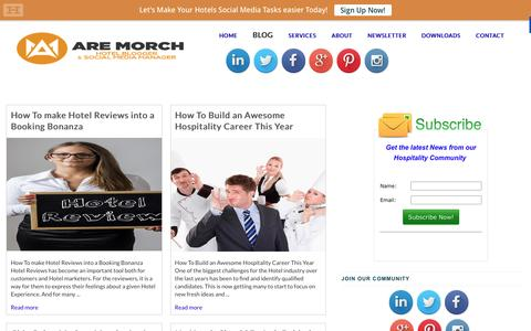 Screenshot of Blog aremorch.com - How To make Hotel Reviews into a Booking Bonanza   Are Morch - Hotel Blogger - captured Jan. 23, 2016