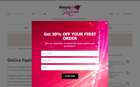 Screenshot of About Page simplydeliciousfashion.com - Best Online Fashion Store   Women's Men's Boutique Shopping   Clothing - captured Jan. 15, 2018