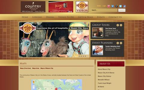 Screenshot of Maps & Directions Page visitmasoncityiowa.com - Maps - captured Nov. 5, 2014