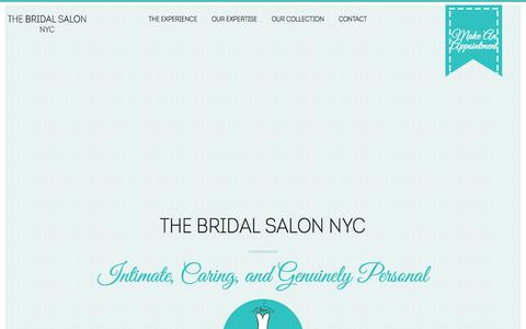 Screenshot of Home Page thebridalsalonnyc.com - The Bridal Salon NYC: Wedding Dresses & Gowns - captured Aug. 16, 2018