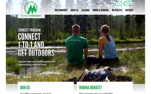 Screenshot of Home Page outdoormindset.org - Welcome to Outdoor Mindset | Outdoor Mindset - captured Sept. 30, 2014