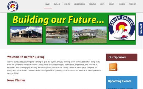 Screenshot of Home Page denvercurlingclub.com - Denver Curling Club - Home - captured Sept. 30, 2014