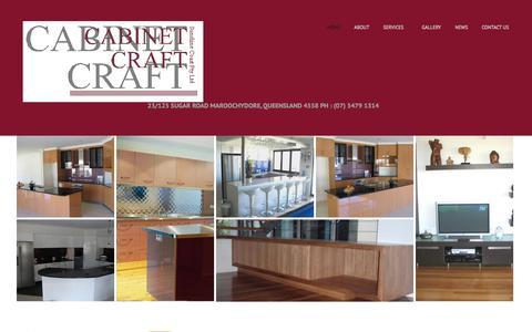 Screenshot of Home Page cabinetcraftsc.com.au - Cabinet Craft Sunshine Coast | Cabinet Makers | 07 5479 1314 - captured Oct. 1, 2014
