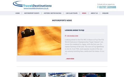 Screenshot of Press Page traveldestinations.co.uk - News - Travel Destinations - captured Oct. 20, 2018