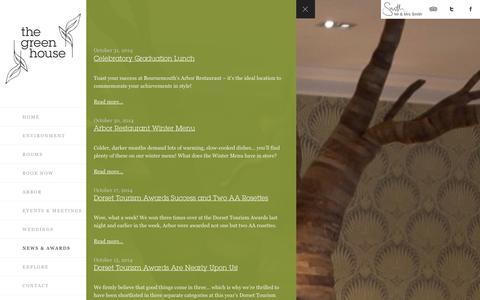 Screenshot of Press Page thegreenhousehotel.co.uk - News | Stylish Restaurants Bournemouth |Award Winning Restaurants The Green House Hotel - captured Nov. 2, 2014