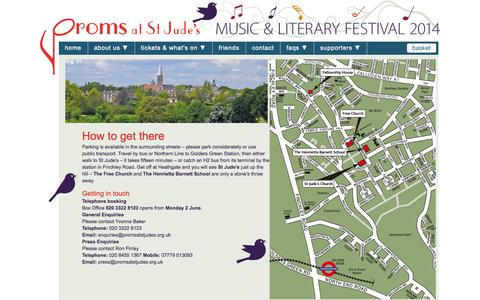 Screenshot of Contact Page promsatstjudes.org.uk - contact us - captured Sept. 30, 2014