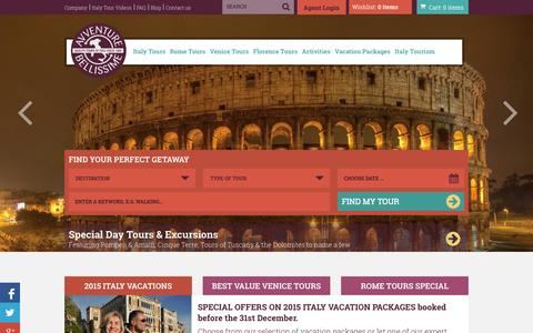 Screenshot of Home Page tours-italy.com - Best value in Tours of Italy, small group italy tours, tours of italy - captured Oct. 4, 2014