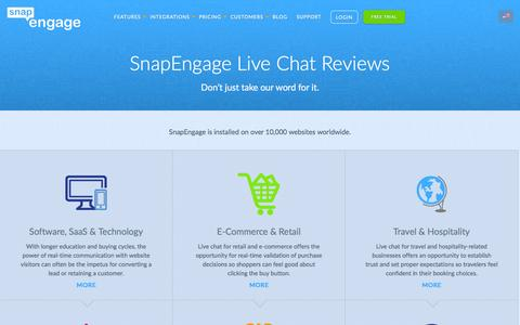 Screenshot of Testimonials Page snapengage.com - Live Chat Reviews   SnapEngage Live Chat - captured July 19, 2016