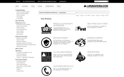 Screenshot of Contact Page luisaviaroma.com - LUISAVIAROMA - CONTACT US - captured Nov. 24, 2015