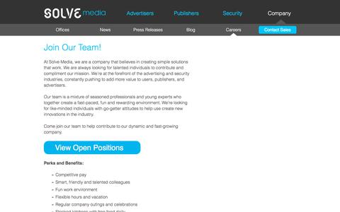 Screenshot of Jobs Page solvemedia.com - Solve Media - captured Sept. 22, 2018