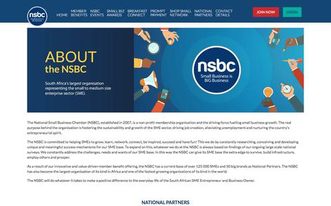 Screenshot of About Page nsbc.org.za - The Force Fuelling Small Business Growth - NSBC - captured Sept. 24, 2018