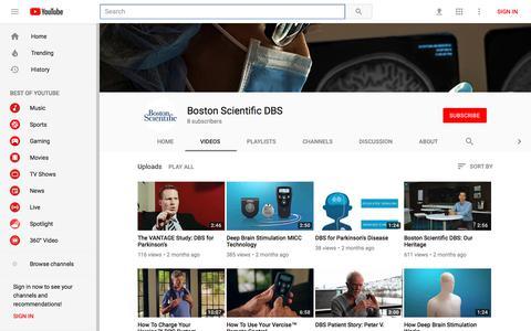Boston Scientific DBS - YouTube - YouTube
