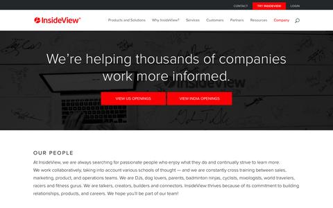 Screenshot of Jobs Page insideview.com - Careers - InsideView - captured Feb. 24, 2016