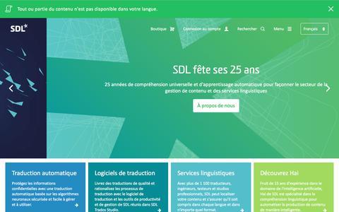 SDL: Société de traduction et de gestion de contenu multilingue