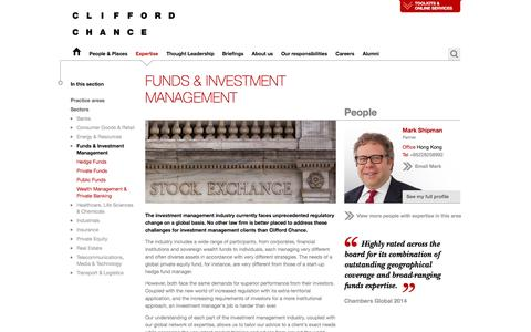 Clifford Chance | Funds & Investment Management
