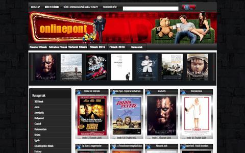 Screenshot of Home Page online-pont.cc - Online  Filmek, Film Letöltés - Onlinepont - captured Jan. 20, 2016
