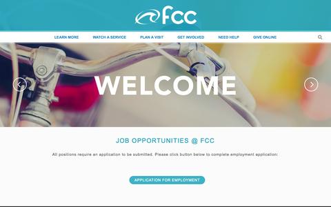 Screenshot of Jobs Page fcchb.com - Jobs - First Christian Church of Huntington Beach - captured Oct. 6, 2014