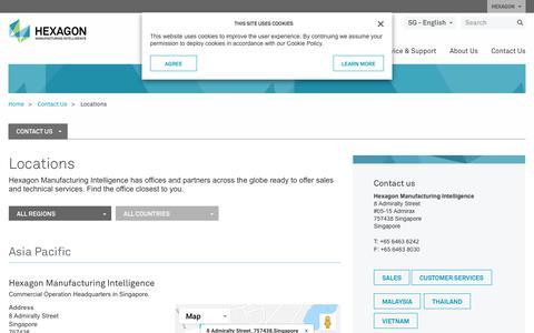 Screenshot of Locations Page hexagonmi.com - Locations | Hexagon Manufacturing Intelligence - captured Oct. 21, 2018
