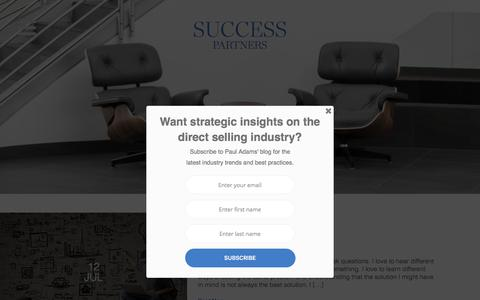 Screenshot of Blog successpartners.com - Blog | SUCCESS Partners | Strategic growth solutions for the direct selling industry - captured Aug. 5, 2017
