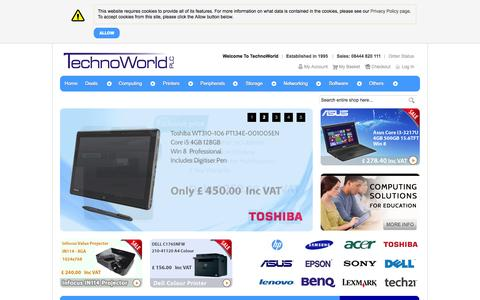 Screenshot of Home Page About Page technoworld.com - TechnoWorld - captured Oct. 9, 2014