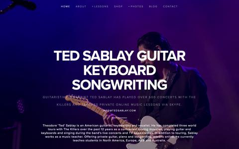 Screenshot of Home Page tedsablay.com - Ted Sablay  Guitar Keyboard Songwriting - captured Oct. 30, 2018