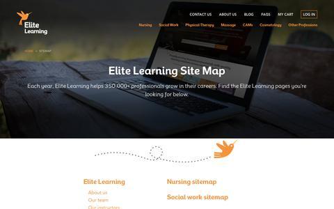Screenshot of Site Map Page elitecme.com - Sitemap - Elite Learning - captured Sept. 27, 2018