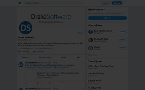 Tweets by Drake Software (@DrakeSoftware) – Twitter