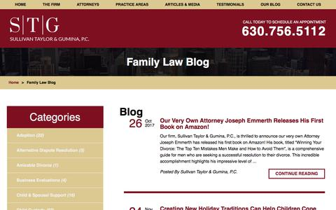 Screenshot of Blog stglawfirm.com - Family Law Blog | Family Law Attorney in Naperville - captured Jan. 28, 2018