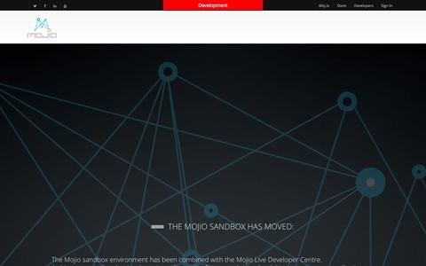Screenshot of Developers Page moj.io - Sandbox has moved! - Mojio Dev Center - captured Sept. 12, 2014