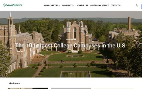 Screenshot of Blog lawnstarter.com - Lawnstarter - The LawnStarter Lawn Care Service Blog - captured Jan. 28, 2016