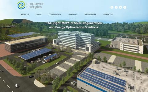 Screenshot of Home Page sunlogics.com - Empower Energies, Inc. - captured Oct. 7, 2014