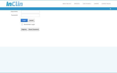 Screenshot of Login Page inclin.com - User Log In - captured Nov. 26, 2016