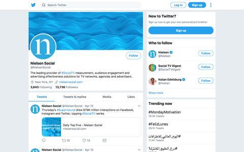 Tweets by Nielsen Social (@NielsenSocial) – Twitter