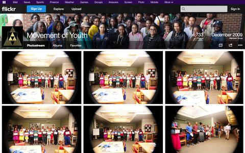 Screenshot of Flickr Page flickr.com - Flickr: Movement of Youth's Photostream - captured Oct. 26, 2014