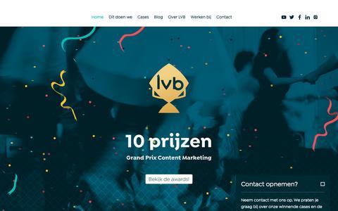 Screenshot of Home Page lvb.nl - LVB - hét nummer 1 content marketing bureau in Nederland - captured Dec. 7, 2018
